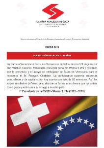 Boletín Enero 2019 - Cámara Venezolano Suiza de Comercio e Industria