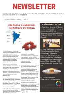 Boletín Febrero 2018 - Cámara Venezolano Suiza de Comercio e Industria