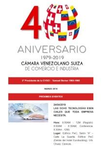 Boletín Marzo 2019 - Cámara Venezolano Suiza de Comercio e Industria