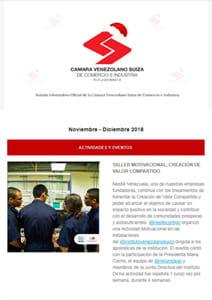 Boletín Noviembre-Diciembre 2018 - Cámara Venezolano Suiza de Comercio e Industria
