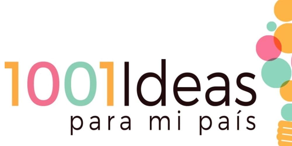 Poster Del Ideatón '1001 Iideas Para Mi País'