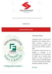 Portada Boletín Febrero -2021- Cámara Venezolano Suiza de Comercio e Industria